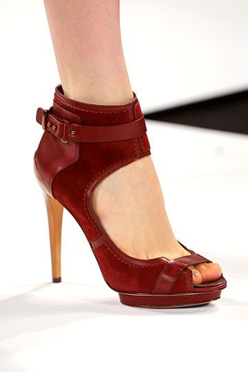 loved the shoes on BCBG Max Azria's runway yesterday