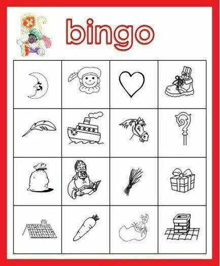 Bingo met sint en zijn pieten