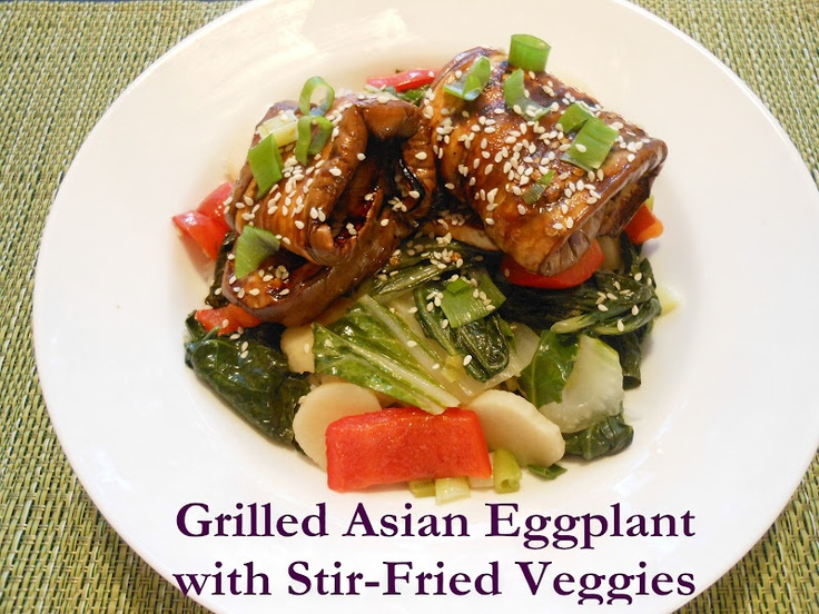 Flavors by Four: Grilled Asian Eggplant with Stir-Fried Veggies