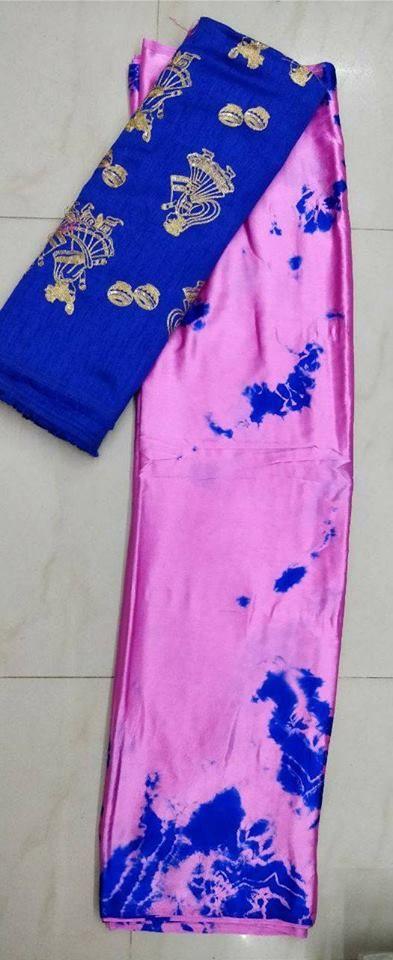 Satin shibori saree with designer blouse | Buy online satin sarees | Elegant Fashion Wear