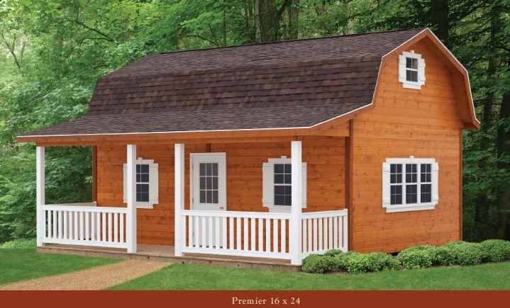 Gambrel roof shed cabin a simple way to increase storage for Simple barn home plans