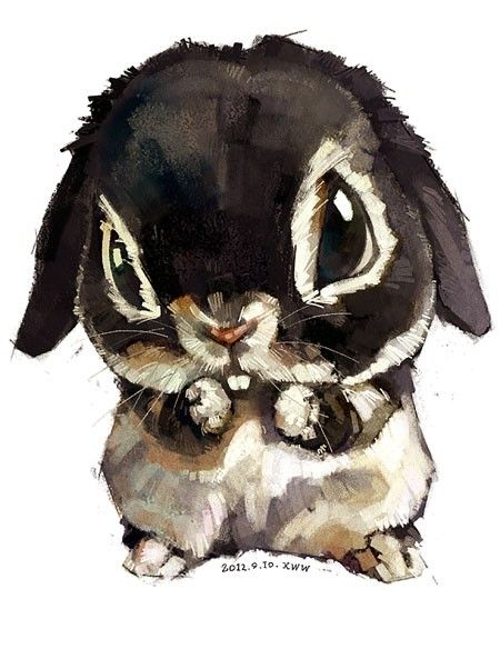 super cute watercolor animals