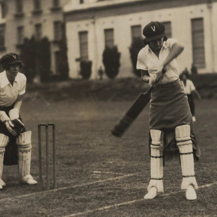 Women's achievements in cricket including inventing of round-arm bowling and participating in the first World Cup are being highlighted in a sports exhibition.