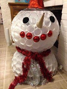 17 meilleures images propos de bricolage enfant sur pinterest couture facile animaux en - Faire un bonhomme de neige avec des gobelets ...