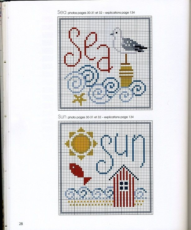 Sea/Sun Cross Stitch