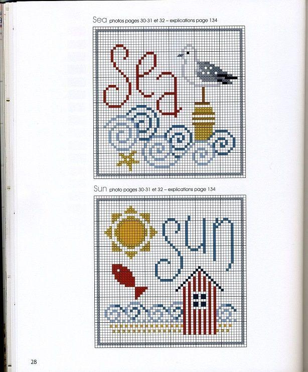 Sea/Sun Cross Stitch