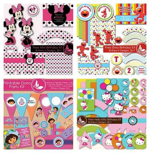 Kits imprimibles gratuitos para fiestas de cumpleaños ¡qué hallazgo 2 Kits imprimibles gratuitos para fiestas de cumpleaños, ¡qué hallazgo!