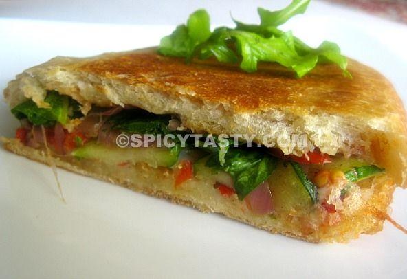 California Grilled Veggie Sandwich Recipe — Dishmaps