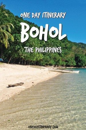 One Day in Bohol Itinerary Pinterest