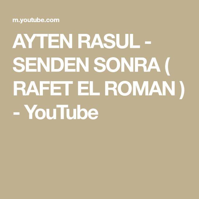Ayten Rasul Senden Sonra Rafet El Roman Youtube Music Studio Instagram Lockscreen