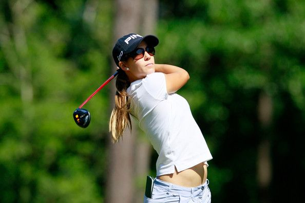 azahara munoz photos | Azahara Munoz Azahara Munoz of Spain tees off the seventh hole during ...