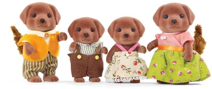 Calico Critters Chocolate Labrador Family Intended Packaging Reveal With Images Chocolate Labrador Labrador Dog Labrador