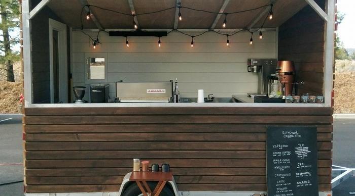 Tiny Home Coffee Cart - Aluma Aluminum Trailer Welded Frame ...