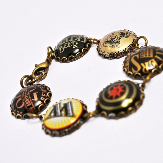 160 best jewelry recycled materials images on pinterest for Beer cap jewelry