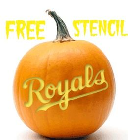 Calling all Royals fans!!! Grab a free Royals Pumpkin Stencil and show off your team spirit. We have four free pumpkin carving patterns for KC, Royals, KC Crown and Sluggerrr.