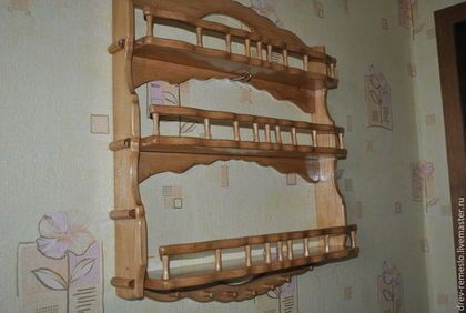 Полки для специй ручной работы. Ярмарка Мастеров - ручная работа. Купить Полка для кухни из дерева Точенка-Дуб. Handmade.