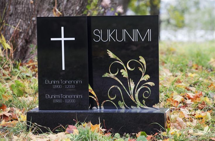Lasinen hautakivi (malli Sumu) Glassy memorial stone / Grave stone glass (model Sumu)