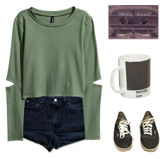 """""""I need an easy friend"""" by tiger-milk ❤ liked on Polyvore featuring Levi's, Vans and Pantone"""