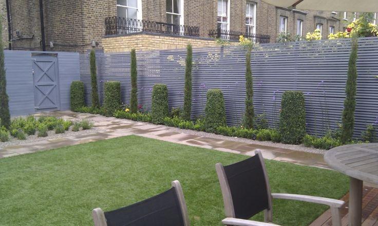 Valla de acero color gris para el jard n vallas - Vallas para jardin ...