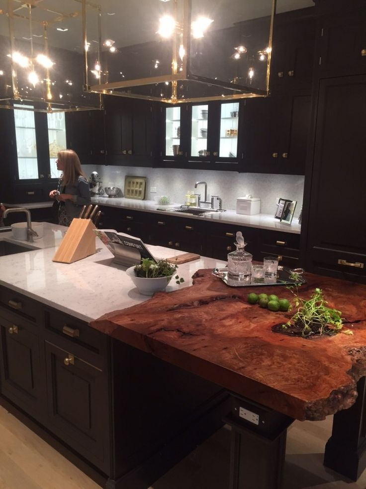 28 best live edge wood countertops images on pinterest for Live edge kitchen island