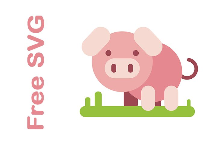 Download Pig Free SVG File | Pig crafts, Cricut creations, Free