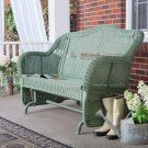 Casco Bay Resin Wicker Single Glider - Wicker Chairs & Seating at Hayneedle