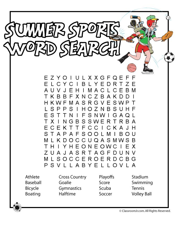 summer sport word search literacy pinterest summer words nu 39 est jr and words. Black Bedroom Furniture Sets. Home Design Ideas