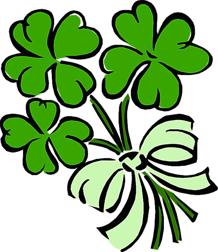 Clip Art Related to St. Patrick's Day: Shamrock Bouquet