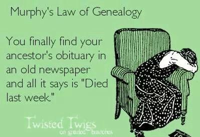 Murphy's Law of Genealogy