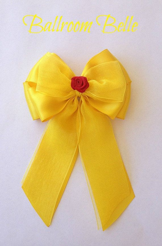 Disney inspired Beauty and the Beast Ballroom Belle princess hair bow