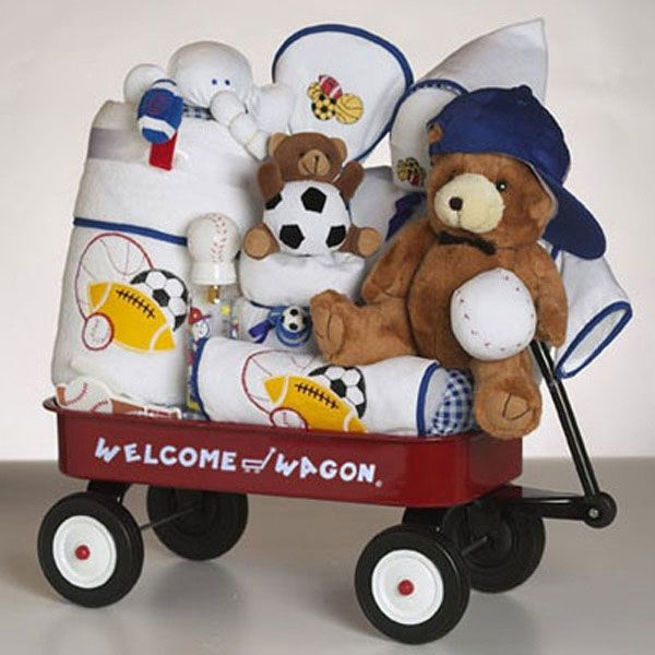 Baby Gifts For Boys   Unique Baby Boy Gifts   Deluxe Welcome Wagon