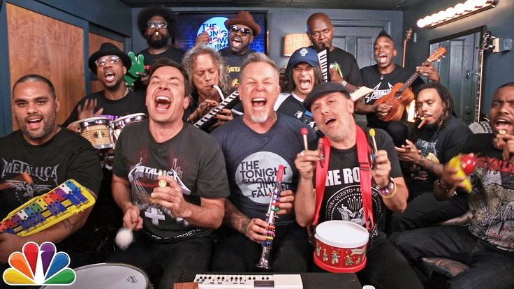 Jimmy Fallon, Metallica, and The Roots Play 'Enter Sandman' Using Classroom Instruments