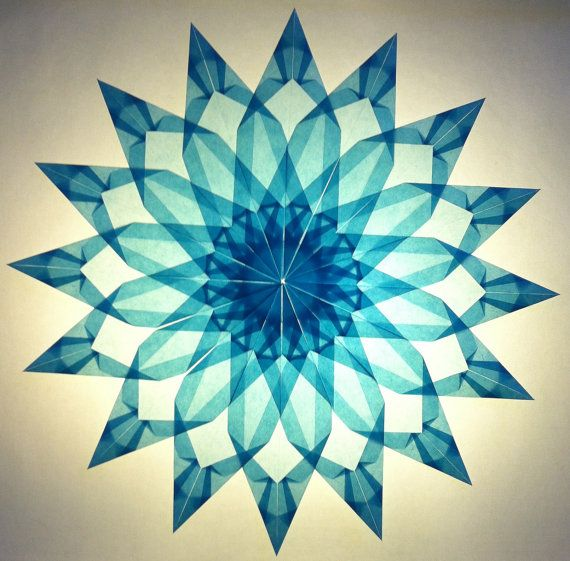Light Blue Window Star 2 by HouseoftheFoldedSun on Etsy