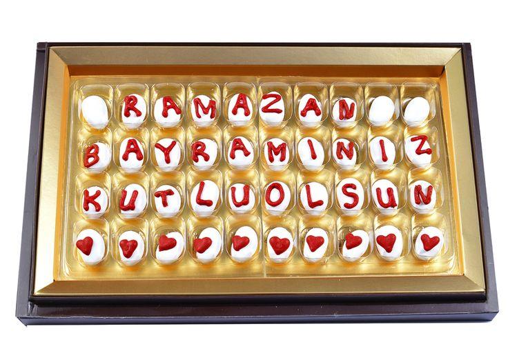 Badem Şekeri Çikolata ile Renkli Bir Bayram Mesajı Vermeye Ne Dersiniz?