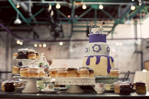 Tea Party Warehouse Wedding