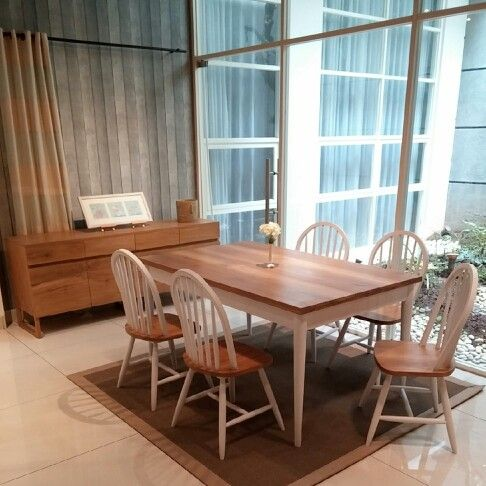 A Set Of Windsor Chairs And Danish Style Dining Table By Kekayuan