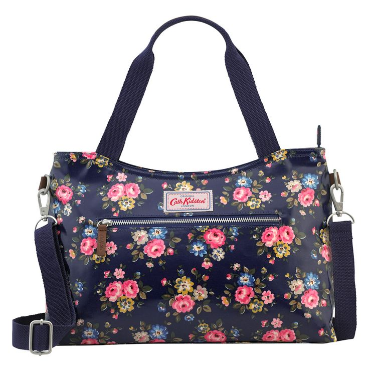 Latimer Rose Zipped Handbag with Detachable Strap | Cath Kidston |