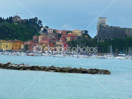 View of Lerici, Liguria, Italy
