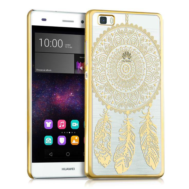 kwmobile Crystal Case Hülle für Huawei P8 Lite mit Traumfänger Design - transparente Schutzhülle Cover klar in Gold