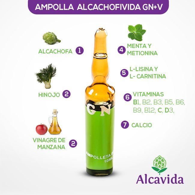 ¿De qué están compuestas las ampollas para adelgazar #alcachofivida?