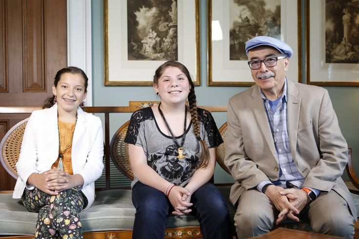 Herrera included two pre-teen poets in the final lecture of his first term last night.