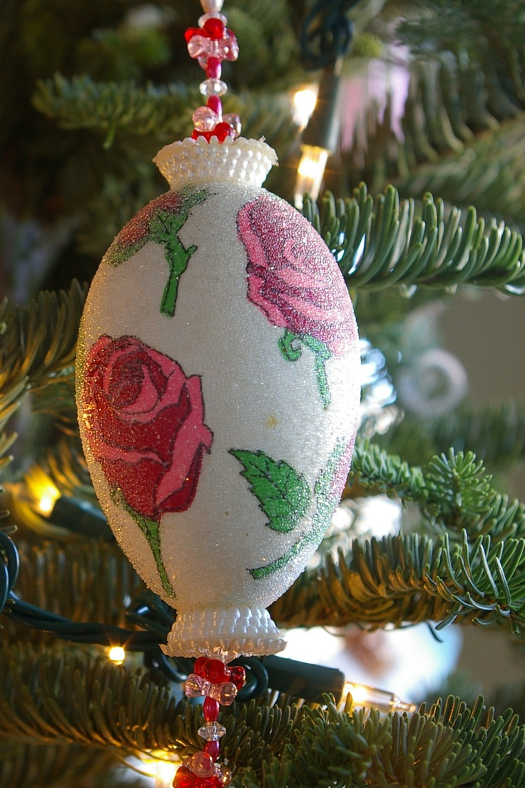 Goose Egg Decorated As Christmas Ornament Photo By Leslie Anneliese