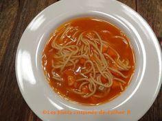 Les plats cuisinés de Esther B: Soupe tomates et vermicelle