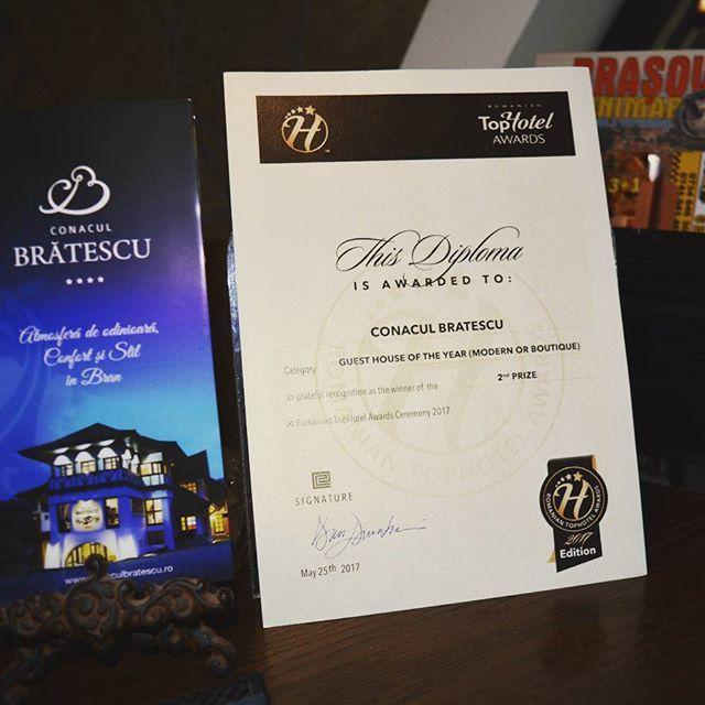 Premiul al II-lea la Pensiunea anului-stil modern sau boutique- TopHotel România. http://www.2017.hotelconference.ro/awards.php #tophotelawards #conaculbratescu #secondprize #gala #boutiquehotel #loveromania #tripadvisorwinner
