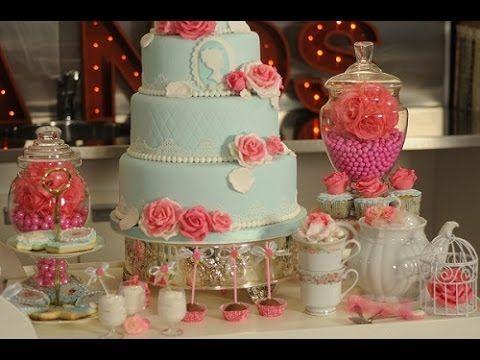 Torta Vintage - Decoracion de Tortas - Rosas - Flores - YouTube