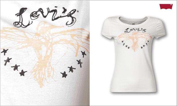 #brandpl #tshirt #levis #white #nadruk #print