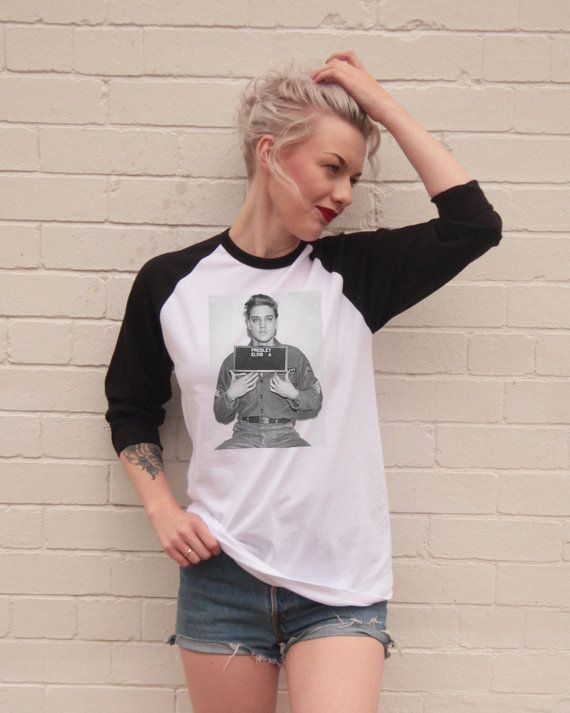 Vintage Style Elvis Presley Mugshot Jersey/t-Shirt by FiftyEggs