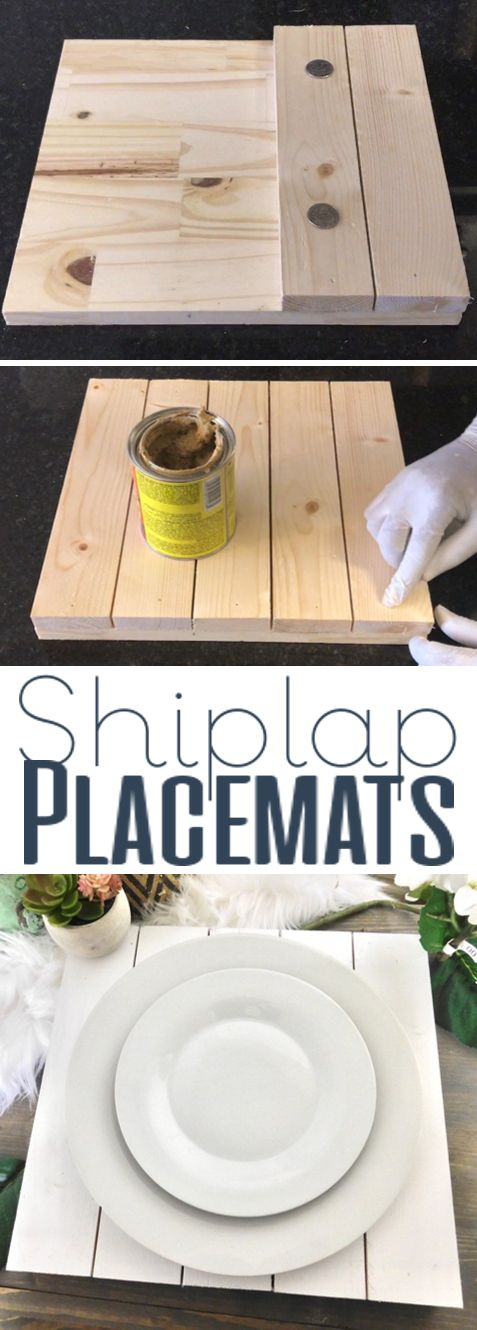 DIY Shiplap Placemats Kitchen Décor Home