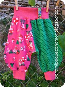 Para mi peque con amor: Pantalón Frida bebé (referencia patrón gratuito).