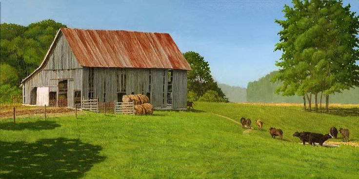 old farm scenes   Indiana Farm Scene - WetCanvas ...